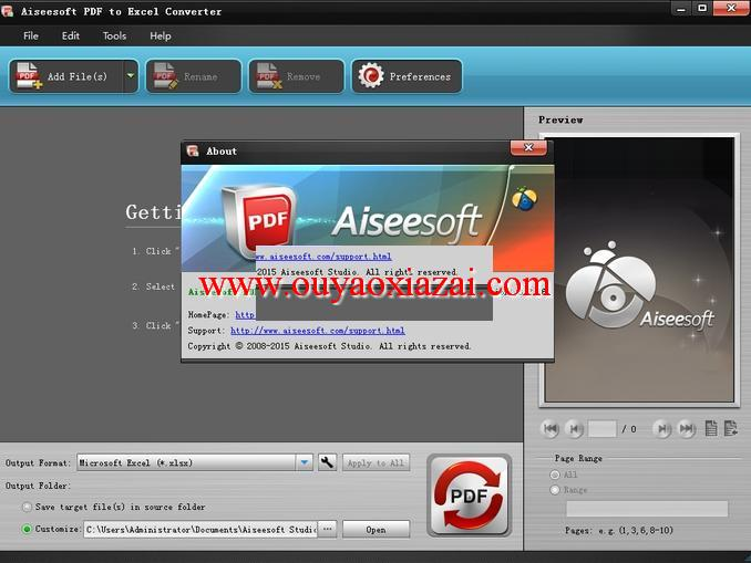 pdf转excel转换器_Aiseesoft PDF to Excel Converter